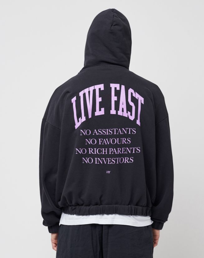 No Rich Parents Hooded Zip