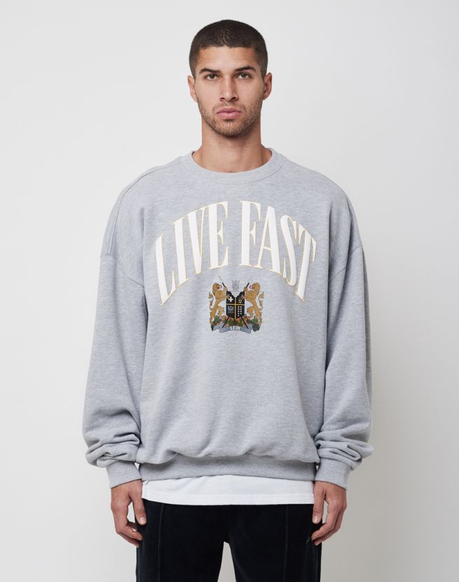 Live Fast Crest Sweater